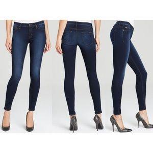 Hudson Nico Mid-Rise Super Skinny Jeans Dark Wash